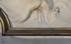 Louis Ardisson signature - Statuary #Carrara #marble low-relief : Triumph of Neptune signed by sculptor #LouisArdisson and #JulesAllard decorator-designer. Edward J. #Berwind Estate #NYC Fifth Avenue #Fireplace
