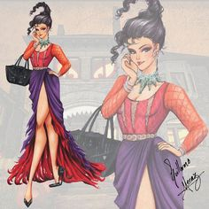 """""""Mary Sanderson""""   Hocus Pocus Fashion Collection by Guillermo Meraz   Happy Halloween!"""