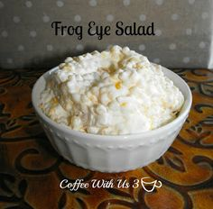 Frog Eye Salad: a delicious mix of fruit salad and pasta salad in a creamy, marshmallowy sauce!