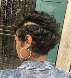 Beautiful haircut Cute Hairstyles For Short Hair, Black Girls Hairstyles, Dope Hairstyles, Short Hair Cuts, Hairstyle Ideas, Pixie Styles, Birthday Hair, Cut Life, New Hair