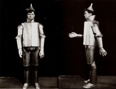 """Buddy Ebsen as the original Tin Man in the """"Wizard of Oz"""" ( he was offered the role of the scarecrow in The Wizard of Oz (1939). Ebsen agreed to change roles with Ray Bolger, who was cast as the Tin Man. Ebsen subsequently became ill from the aluminum make-up, however, and was replaced by Jack Haley.)"""