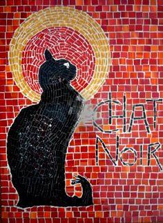 Mosaic Gato negro