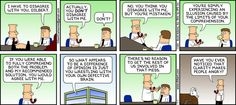 Dilbert strip. I want to later order this strip on a t-shirt or coffee mug