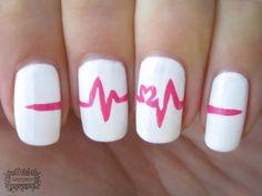 Heartbeat Great idea for #nurse #nails