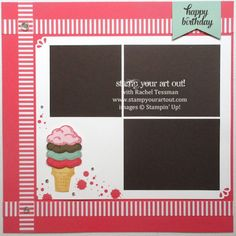 12x12 scrapbook pages made with Sprinkles of Life stamp set… #stampyourartout #stampinup - Stampin' Up! - Stamp Your Art Out! www.stampyourartout.com