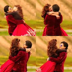 Shah Rukh Khan and Kajol - Gerua Song Dilwale Bollywood Couples, Bollywood Stars, Dilwale 2015, Desi Problems, Shahrukh Khan And Kajol, Srk Movies, Sr K, Shayari Image, Indian Bridal Wear