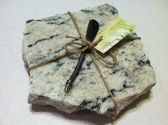 White and Black River Granite Cheese Board