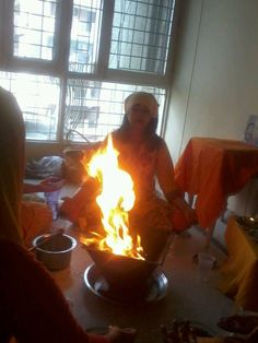 When a Havan is successful one can see many different formations in the fire. #yoga #DhyanFoundation