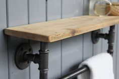 Industrial Steel Pipe Storage Shelf by MoADesignUK on Etsy