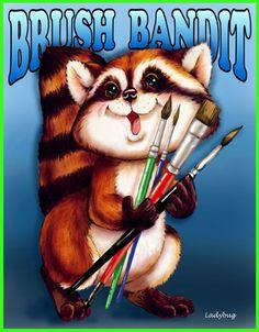Brush Bandit © Ladybug Creations 2012.