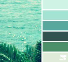 Home Color Palette Green Design Seeds Ideas For 2019 Scheme Color, Colour Pallette, Colour Schemes, Color Patterns, Color Combinations, Ocean Color Palette, Ocean Colors, Design Seeds, Decoration Inspiration