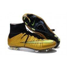the best attitude 65c86 a1b15 Sleva Nike Mercurial Superfly IV FG Zlato černé levné fotbalové boty Cheap  Football Shoes, Nike