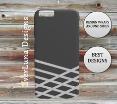 Grey Phone case IPhone 7 6 and 5 Samsung by EverLunaStore Iphone Phone Cases, Iphone 7, Samsung, Grey, Unique Jewelry, Handmade Gifts, Design, Gray, Kid Craft Gifts