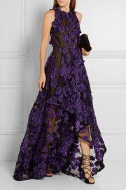 Jason WuFloral-appliquéd fil coupé gown