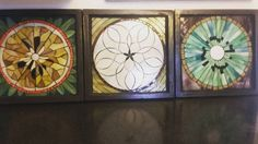 Orange, Apple and Kiwi Slices in Stained Glass Mosaic