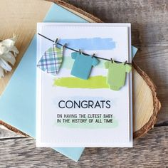 MFT Bundle of Baby Clothes | New Baby Card | Craft For Joy Designs