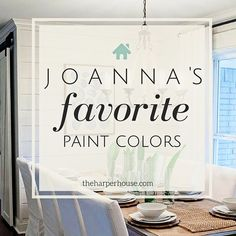 I always love the beautiful soothing colors used in home remodels on Fixer Upper. Joanna's five favorite Fixer Upper paint colors Interior Paint Colors, Paint Colors For Home, Indoor Paint Colors, Wall Paint Colors, Interior Painting, Gold Interior, Paint Colors For Basement, Living Room Paint Colors, Hgtv Paint Colors