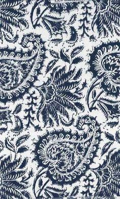 Paisley - Indiennes Indigo Cotton fabric Idea for penwork design Motif Paisley, Paisley Design, Paisley Pattern, Pattern Art, Paisley Print, Pattern Design, Textile Prints, Textile Patterns, Textiles