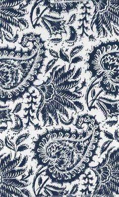 Paisley - Indiennes Indigo Cotton fabric