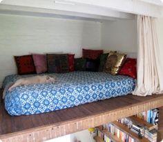 loft bed  bookshelves | Loft Bed Small Bookcase and Desk