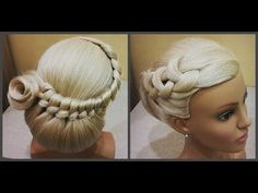 Прически.Быстрая прическа.легкое плетение волос.Bridal Hairstyle.For Long Hair Tutorial Step By Step - YouTube