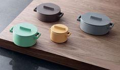 'Terra.Cotto' pots, by Stefania Vasquez, for Sambonet