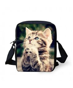 Animals Face Small Crossbody Bags Shoulder Handbag - Cute Kitty -  C9184SGD860 5da7b59823be3