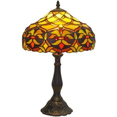 """Amora Lighting AM008TL12 Tiffany Style Floral Design 19"""" Table Lamp"""