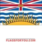 3' x 5' British Columbia High Wind, US Made Flag Mini Flags, House Flags, Garden Flags, 5 S, British Columbia