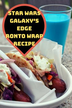 Copy-Cat recipe for Star Wars Galaxy's Edge Ronto Wrap from Ronto Roasters. Sold at Disneyland and soon Copy-Cat recipe for Star Wars Galaxy's Edge Ronto Wrap from Ronto Roasters. Sold at Disneyland and soon at Walt Disney World! Disney Inspired Food, Disney Food, Disney Recipes, Walt Disney, Disney Magic, Star Wars Essen, Lillet Berry, Styles Bob, Star Wars Food