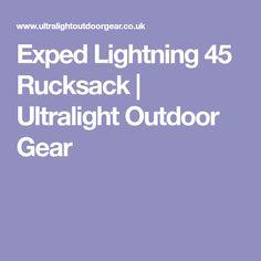 Exped Lightning 45 Rucksack | Ultralight Outdoor Gear