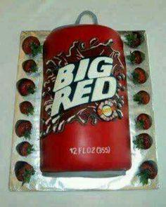 Big red cake, cool