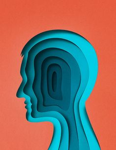 Paper art by Eiko Ojala for Scientific American Mind - Amnesia.