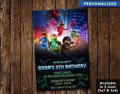 Lego Ninjago Birthday Invitation  Lego Ninjago Birthday by Likuid
