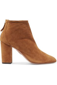 fb7cac991b61 Aquazzura - Downtown Suede Ankle Boots - Tan