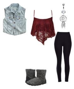 """outfit for Tuesday"" by fortheloveofaussies ❤ liked on Polyvore featuring Muk Luks and Bling Jewelry"