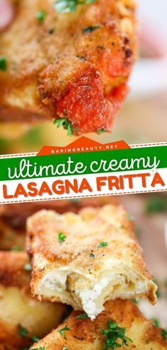 Looking for a Gameday food idea? Learn how to make Lasagna Fritta! With layers of flavor, this crowd-pleasing appetizer recipe is delicious when served with tomato sauce. It also makes a great tailgate food or homegating recipe! Best Appetizers, Appetizer Recipes, Fried Lasagna, Savoury Finger Food, Healthy Hummus, How To Make Lasagna, Spicy Meatballs, Tailgate Food, Game Day Food