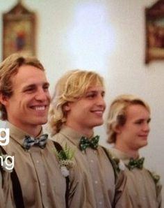At Tim's wedding
