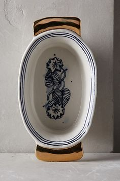 Anthropologie EU Dreambirds Casserole Dish