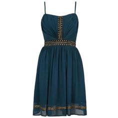 Studded prom dress