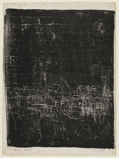 Jean Dubuffet, Wall with Parachute (Mur au pararchute), 1945