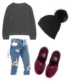 """""""Comfyyyy"""" by meli-mels on Polyvore featuring Black, ASOS, Uniqlo and Puma"""