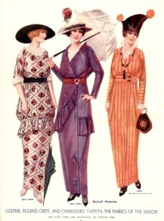 1914-15 -McCall Book of Fashions- orange dress