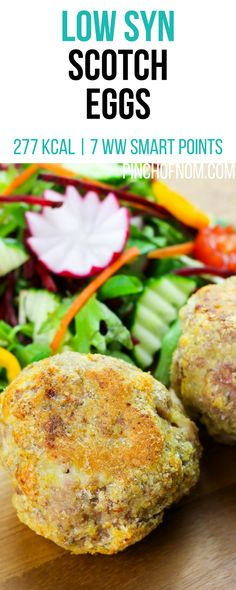Low Syn Scotch Eggs | Pinch Of Nom Slimming World Recipes 277 kcal | 1 Syn | 5 Weight Watchers Smart Points