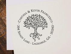 return address stamp, self inking stamp, address stamp, custom address stamp, custom stamp, self inking address, Tree of Life T1