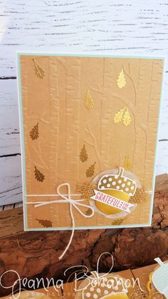 One Stamp At A Time Stampin Up Acorny Thank You Jeanna Bohanon 4