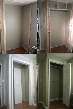 new Ideas diy bathroom closet built ins spaces Closet Remodel, Small Space Storage Bedroom, Storage Bench Bedroom, Bedroom Closet Doors, Closet Bedroom, Bedroom Storage Ideas For Clothes, Diy Bedroom Storage, Bedroom Storage For Small Rooms, Build A Closet