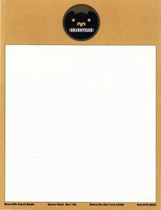 Bearsville Records Letterhead, Designed by Milton Glaser, 1972 Letters Of Note, Milton Glaser, Sound Studio, Letterhead Design, Modern Typography, Printed Materials, Graphic Design, Blog, Label