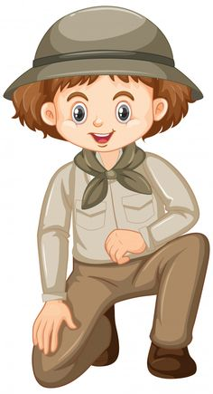 Vector Freepik, Boy Scouts, Murals, Cartoons, Boys, Fictional Characters, Safari Outfits, Scouts, Guys In Suits