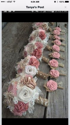 Easy how to pictorial on making your own nosegay bouquet use with shabby chic blush pink and champagne silk with ivory burlap wedding bouquets listing is for one bridal bouquet by burlapandlaceplace mightylinksfo Gallery